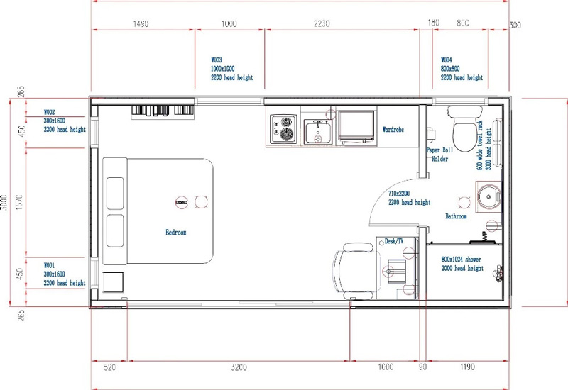 Low cost prefab movable 20ft container modular mobile prefab living container homes