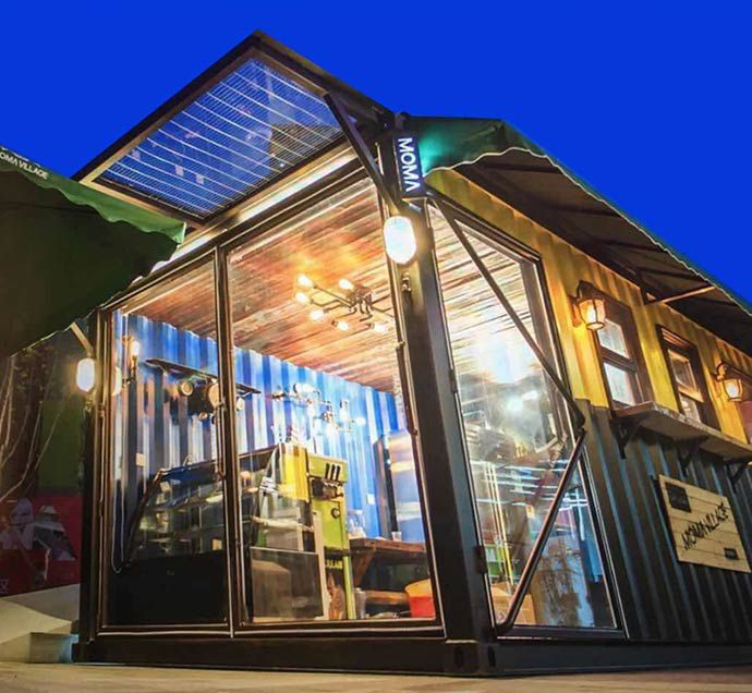 Luxury Shipping Container House Mobile Prefab Container Coffee Shop
