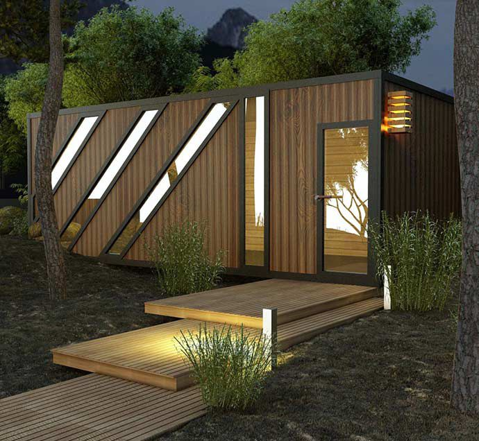 luxury Living Prefab shipping Container Prefabricated Resort House/office