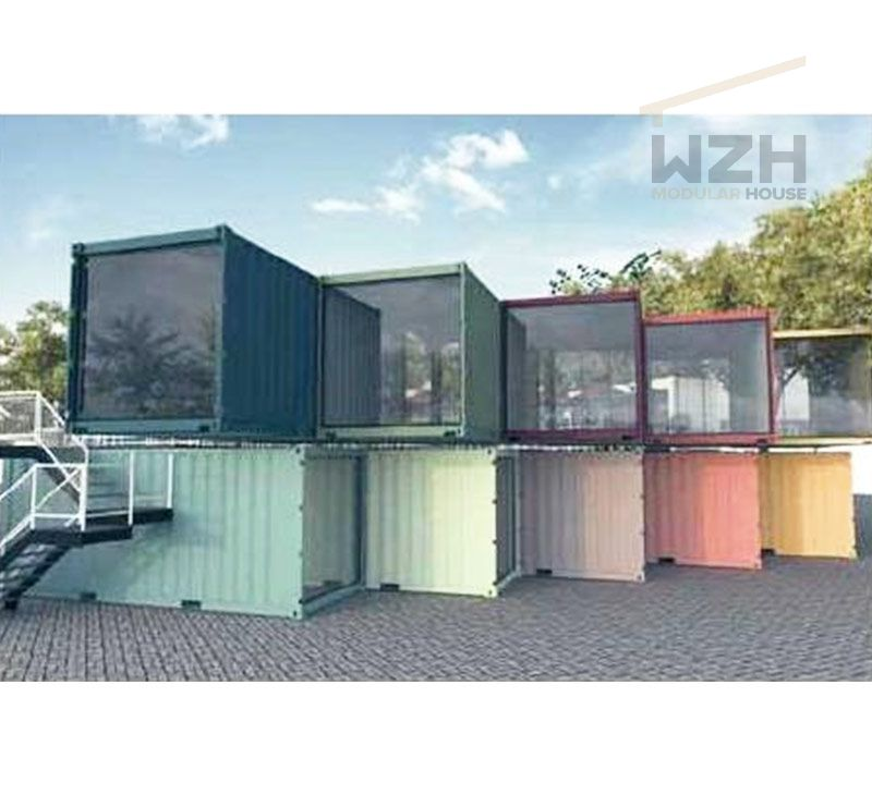 20FT/40FT Prefabricated Shipping Container Shopping Mall / Container House Prefab