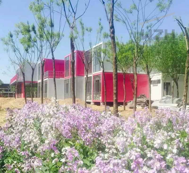 Container Theme Hotel Movable Container House Made From Flat Pack Containers House China