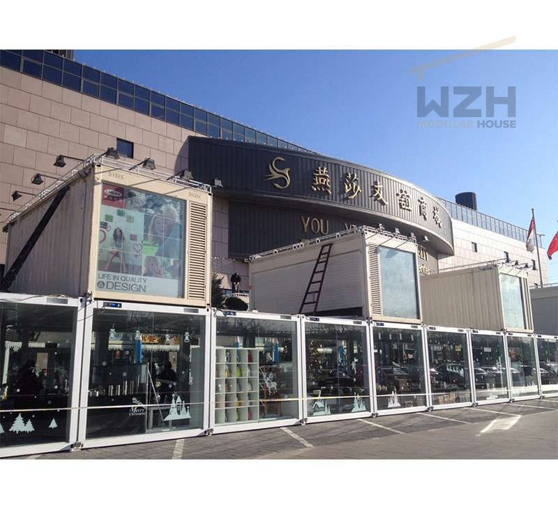 2018 Prefabricated Steel Flat Pack Container Shopping Mall Prefab Modern Building