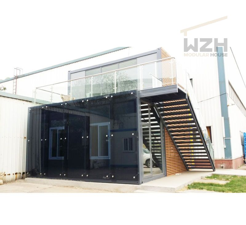 Luxury modular flat pack container office buildings with toilet bathroom office