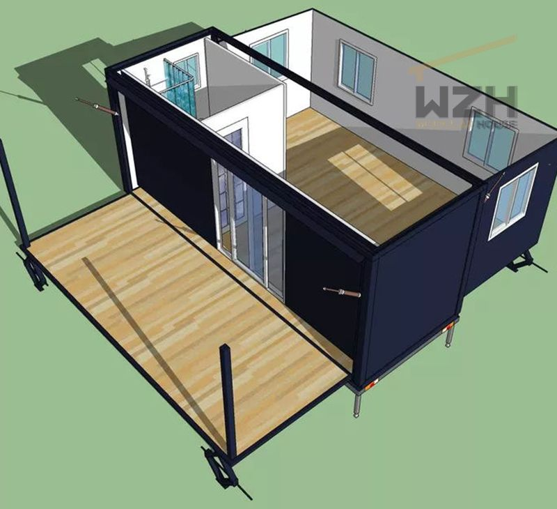 Modern Container House Australia Expandable Tiny Home With Solar System