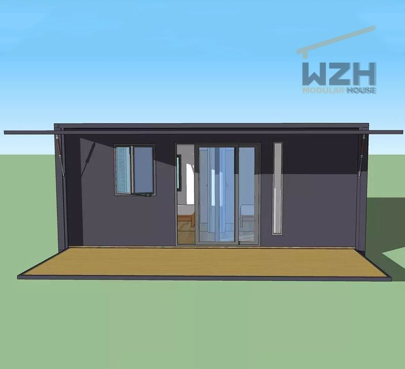 Living Customized Prefabricated Expandable Container Workshop Prefab Houses with Toilet